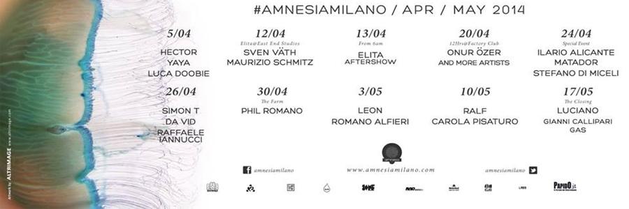 amnesia milano april guest