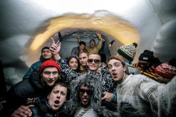 snowbombing igloo