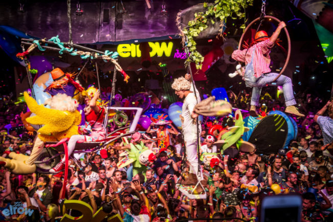 elrow rowgelia 2017 bis credits Khris Cowley, Here & Now
