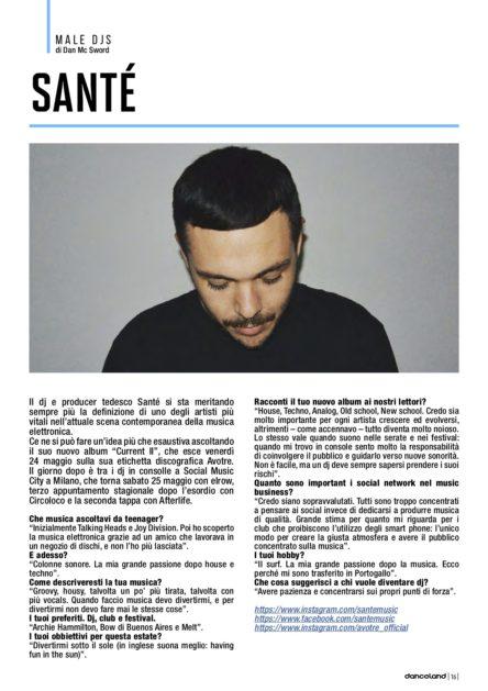 Danceland, maggio 2019: l'intervista a Santé